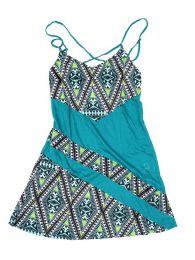 Outlet Ropa Hippie - Vestido estampados étnico VEUN86 - Modelo Azul