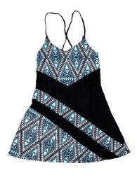 Vestidos Hippies Alternativos - Vestido estampados étnico VEUN86 - Modelo Negro