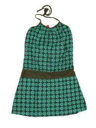 Vestidos Hippies Boho Étnicos - Vestido con frontal estampados VEUN99 - Modelo Verde