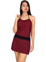 Vestido étnico estampado, para comprar al por mayor o detalle  en la categoría de Ropa Hippie de Mujer | ZAS Tienda Alternativa.[VEUN99]