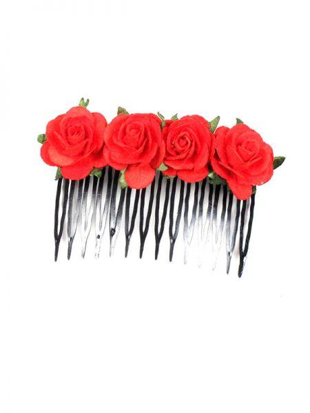 Peineta de flores realizada con pasta de papel y dcoradas a mano. Comprar - Venta Mayorista y detalle