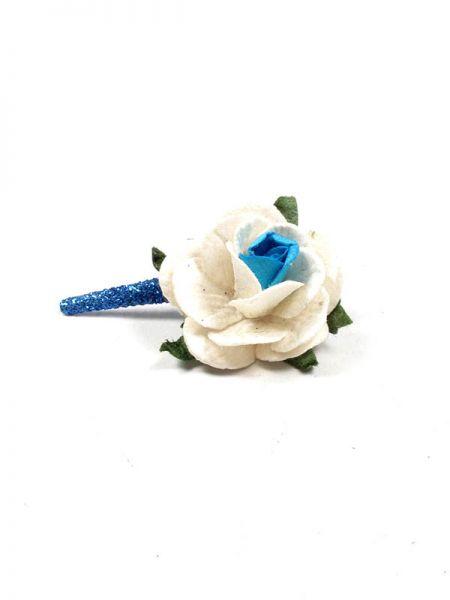 Artículos para el pelo - Pinza con flor de pasta de papel [PZFLP02] para comprar al por mayor o detalle  en la categoría de Complementos Hippies Alternativos.
