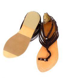 Sandale à bout, matière gladiateur avec rivets et fermeture à glissière en ZHO02 pour acheter en gros ou détail dans la catégorie Alternative Ethnic Hippie Outlet | Magasin ZAS Hippie.