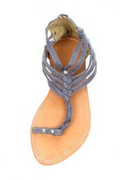 Outlet other items - Toe sandal, material gladiator with rivets and zipper in [ZHO02] to buy in bulk or in detail in the Alternative Ethnic Hippie Outlet category.