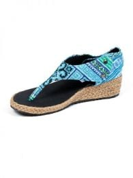Sandalia de cuña alta Mod Azul17