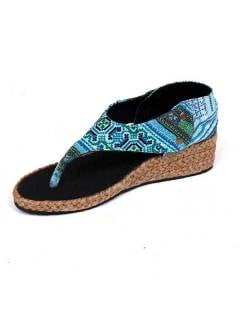Hippies Sandals and Clogs - High wedge sandal ZNN02 - Model Blue 20