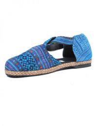 sandalia cerrada étnica Mod Azul