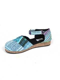Sandalias y Zuecos Hippies - Zueco zapato estilo menorquina ZNN11B - Modelo Azul 20