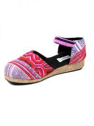 Sandalias y Zuecos Hippies - Zueco zapato estilo menorquina ZNN11B - Modelo Rosa17