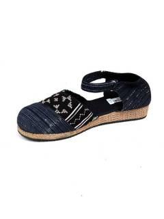 Sandalias y Zuecos Hippies - Zueco zapato estilo menorquina ZNN11B - Modelo Negro 20