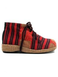 Hmong Tribes ethnic cloth boot [ZNN12]. Sandals and Clogs to buy wholesale or detail in the category of Hippie Footwear for Men and Women | ZAS Hippie Store.