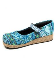 Zapato abierto punta redondeada Mod Azul