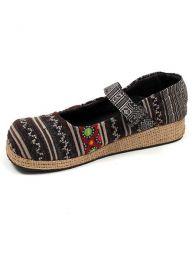 Zapato abierto punta redondeada Mod Negro