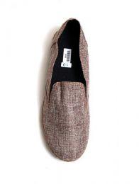 Zapato liso de fibras naturales detalle del producto