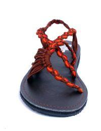 Sandalias de cordones en color detalle del producto
