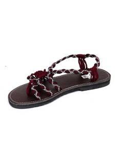 - Hippie-Sandale mit kastanienbraunen Baumwollbändern. [ZSC17], um Großhandel oder Detail in der Kategorie des alternativen Hippie-Zubehörs zu kaufen.