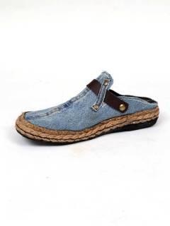 Sandalias y Zuecos - Zueco Jeans Reciclado y cáñamo [ZZSA01] para comprar al por mayor o detalle  en la categoría de Sandalias Hippies Étnicas.