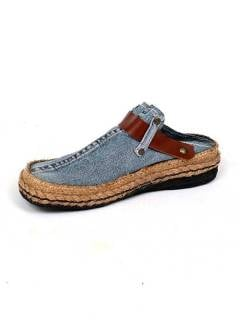 Recycled Jeans Clog and hemp to buy wholesale or detail in the category of Hippie Footwear for Men and Women | ZAS Hippie Store [ZZSA01].