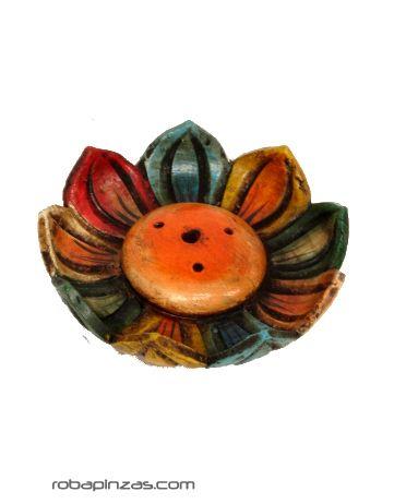 Portaincienso flor de loto o caracola de cerámica coloreada, Comprar - Venta Mayorista y detalle