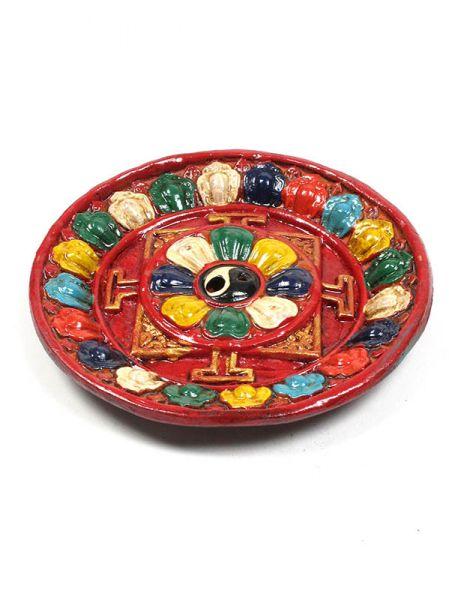 Portaincienso plato mandala decorado a mano de cerámica Comprar - Venta Mayorista y detalle