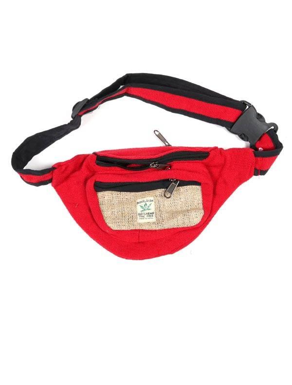 Riñonera clásica de cáñamo bicolor - Rojo Comprar al mayor o detalle