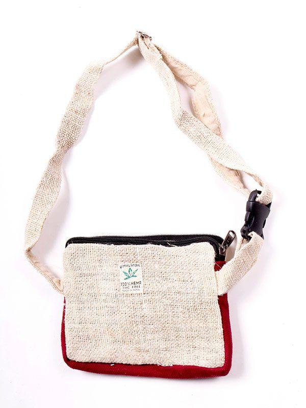 Riñoneras / Cartucheras - Riñonera de cáñamo bicolor [RIHC02] para comprar al por mayor o detalle  en la categoría de Complementos Hippies Étnicos Alternativos.