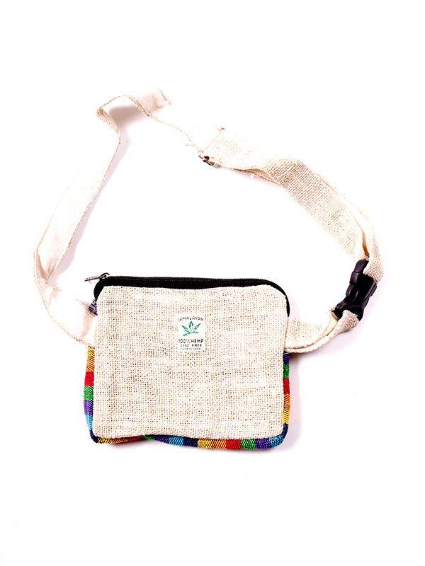 Riñonera de cáñamo bicolor RIHC02 para comprar al por mayor o detalle  en la categoría de Complementos Hippies Étnicos Alternativos.