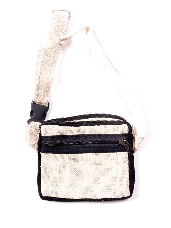 Riñonera de cáñamo bicolor - Negro Comprar al mayor o detalle