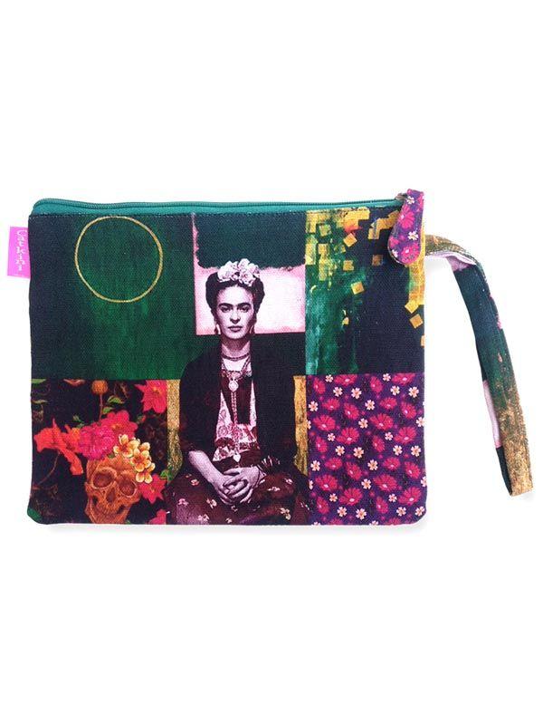 Colección Catkini - Frida Kahlo - Neceser/Sobre Grande Estampados Frida Kahlo. [SOMEPO] para comprar al por mayor o detalle  en la categoría de Complementos Hippies Alternativos.