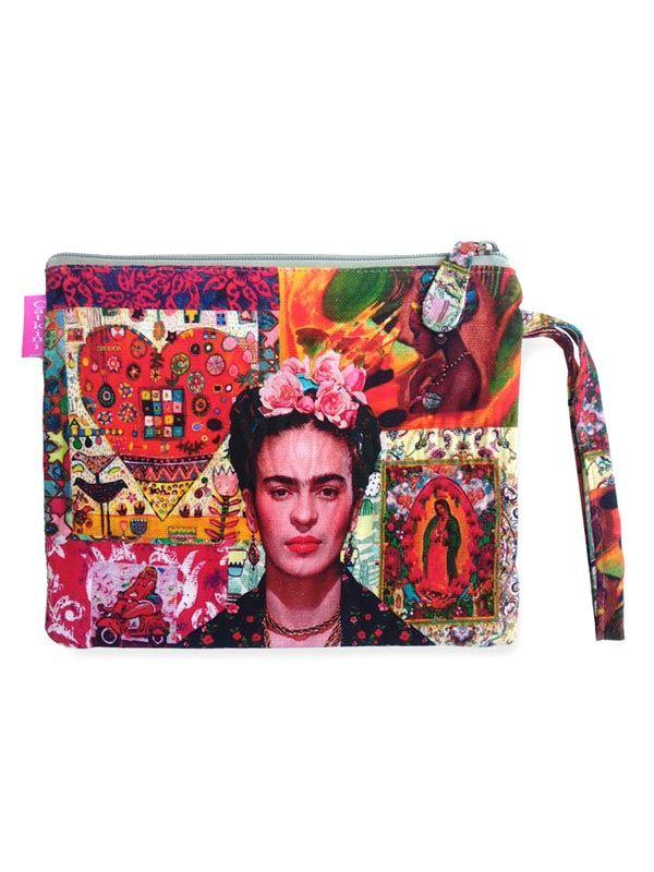 Neceser/Sobre Grande Estampados Frida Kahlo. [SOMEPO] para Comprar al mayor o detalle
