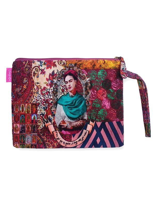 Neceser/Sobre Grande Estampados Frida Kahlo. [SOMEPO]. Bolsos y Monederos de Frida Kahlo  para comprar al por mayor o detalle  en la categoría de Complementos Hippies Alternativos.