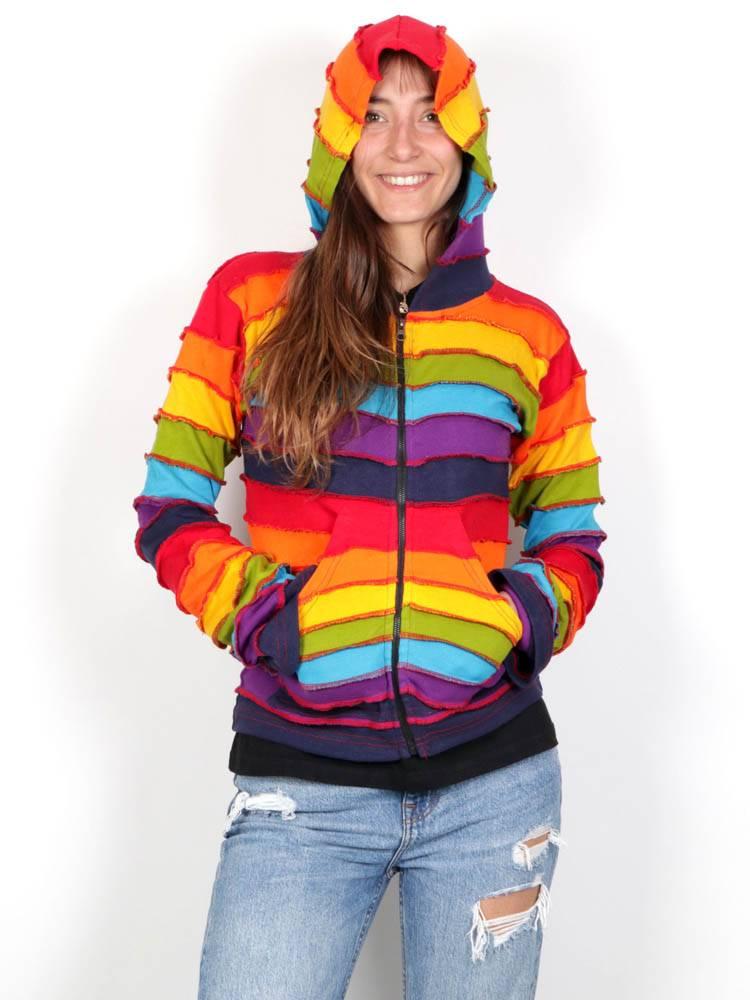 Sudaderas chicas - Sudadera hippie rainbow SUC1532 para comprar al por Mayor o Detalle en la categoría de Ropa Hippie Alternativa para Mujer