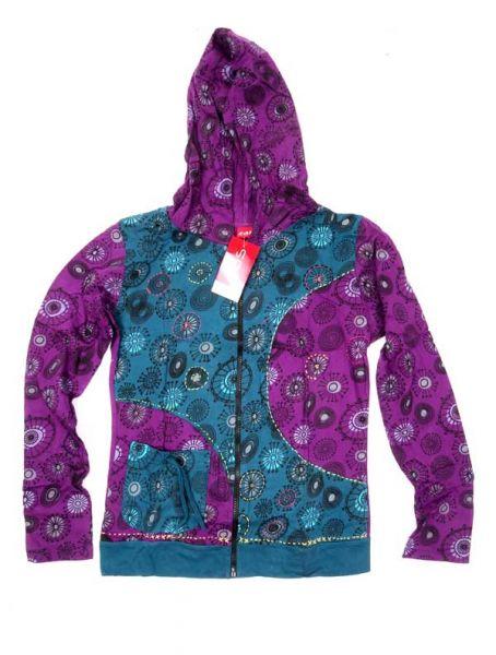 Sudaderas chicas - Sudadera bicolor con capucha SUEV05 - Modelo Morado