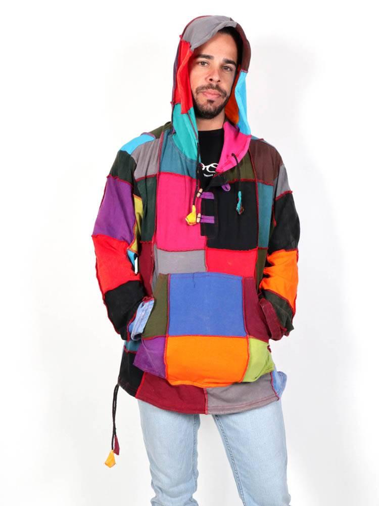 Sudaderas - Abrigos - Sudadera Hippie Patchwork. [SUHC03] para comprar al por mayor o detalle  en la categoría de Ropa Hippie Alternativa para Hombre.