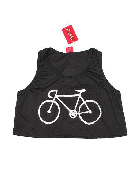 Top de poliester mini con estampado bicicleta. Talla única Comprar - Venta Mayorista y detalle