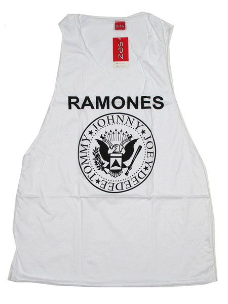 Camiseta tirantes Ramones - Blanco Comprar al mayor o detalle