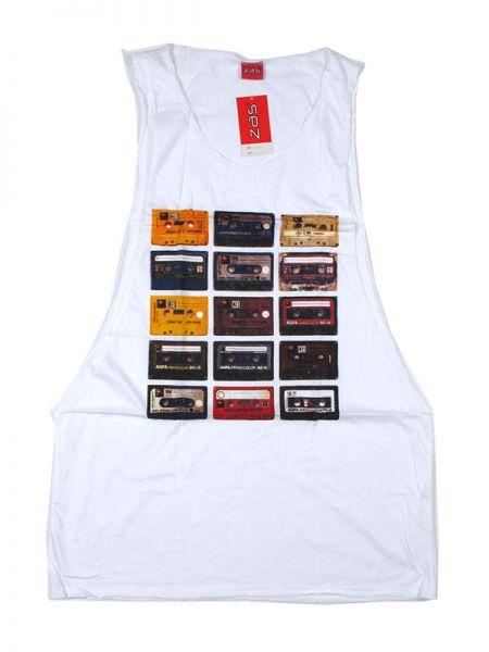 Camiseta tirantes cassettes retro. camiseta de tirantes 100% algodón TMBL07 para comprar al por mayor o detalle  en la categoría de Outlet Hippie Étnico Alternativo.