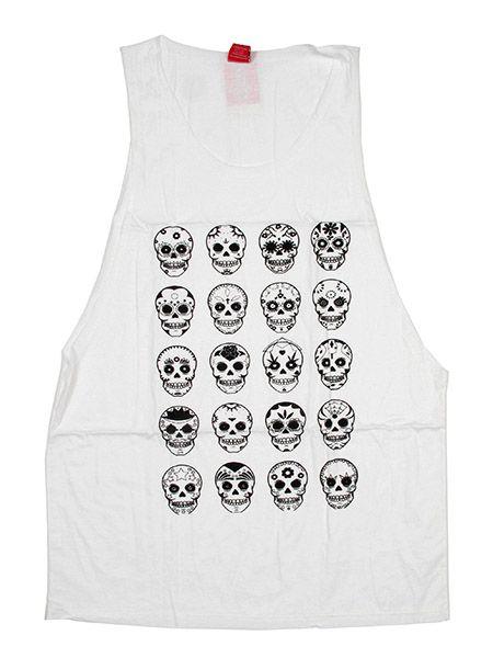 Camiseta tirantes calaveras multi Comprar - Venta Mayorista y detalle