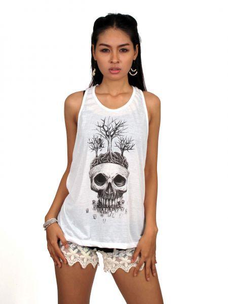 Top tirantes maceta skull. camiseta de tirantes con espalda abierta Comprar - Venta Mayorista y detalle