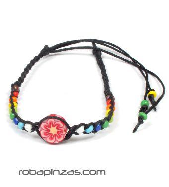 Tobillera con motivo de fimo de colores TOCU-E para comprar al por mayor o detalle  en la categoría de Bisutería Hippie Étnica Alternativa.