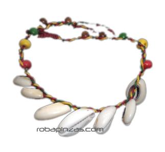 Tobilleras Hippies - Tobillera de macramé adornada con cascabeles y cuentas de [TOCU5] para comprar al por mayor o detalle  en la categoría de Bisutería Hippie Étnica Alternativa.