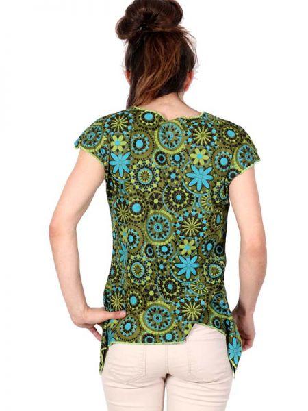 Top blusa de algodón estampados flores, con manga en pico abierta Comprar - Venta Mayorista y detalle