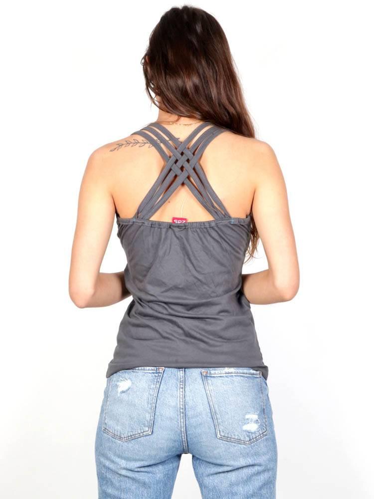 Haut uni à bretelles multiples [TOHC05] pour acheter en gros ou en détail dans la catégorie T-shirts, chemisiers et hauts