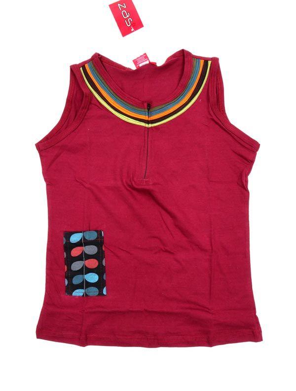 Top cuello cremallera y bolsillo - Rojo Comprar al mayor o detalle