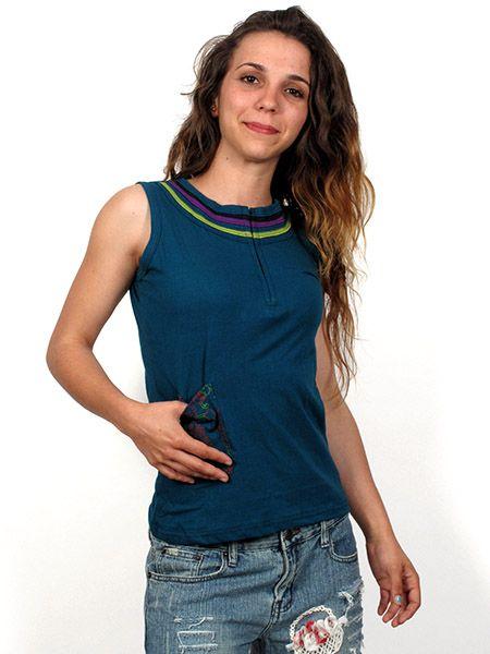 Top de algodón con detalles en cuello de colores con cremallera Comprar - Venta Mayorista y detalle