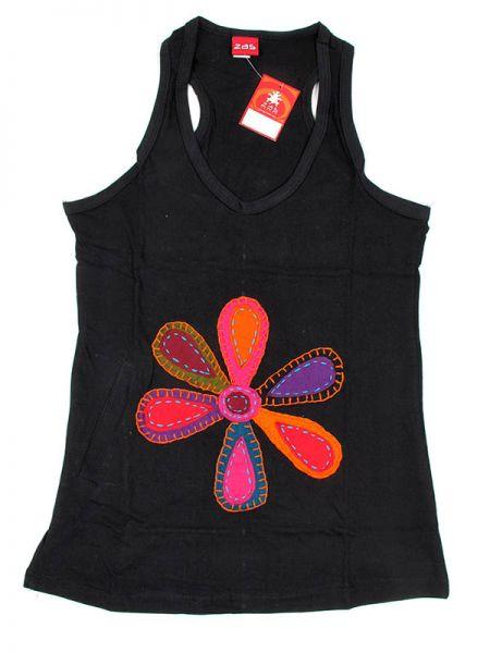 Top hippie algodón parches flor de colores con tirante y espalda Comprar - Venta Mayorista y detalle
