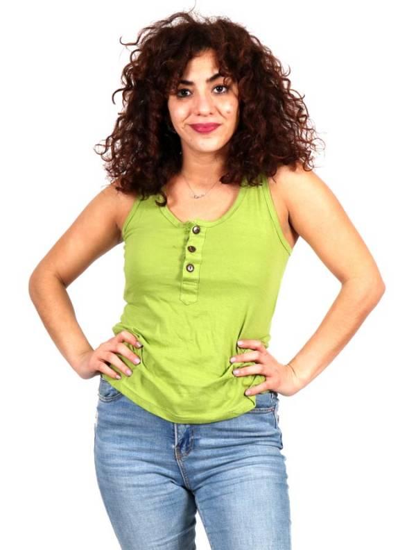 Top básico con botones de coco [TOHC37] para comprar al por Mayor o Detalle en la categoría de Camisetas Blusas y Tops
