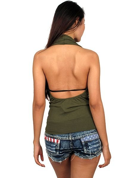 Top ajustado cruzado con elástico en cintura. 95% expandex Comprar - Venta Mayorista y detalle