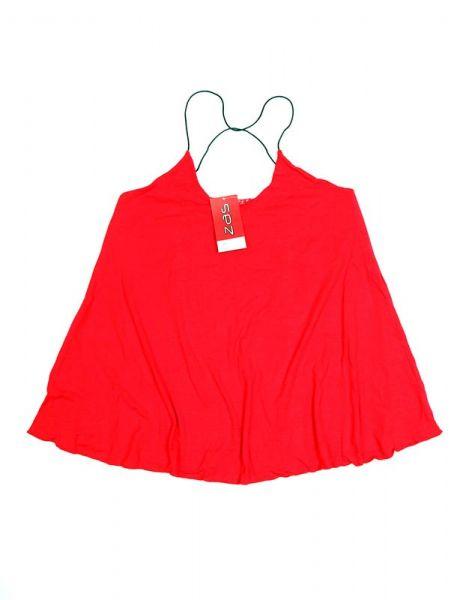 Top blusa amplia tirante fino - Rojo Comprar al mayor o detalle