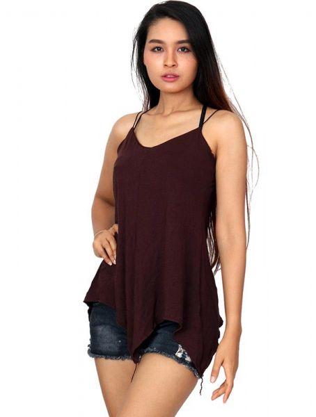 Top blusa amplia tirante fino asimetrico - Detalle Comprar al mayor o detalle